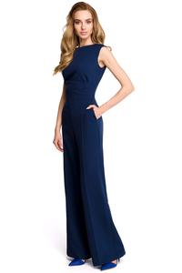 Dark Blue Elegant Evening Ladies Jumpsuit