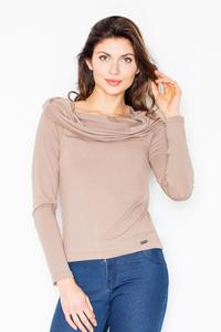 Brown Knitwear Wide Tourtle Neck Blouse