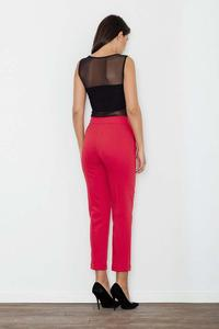 Red Elegant Cigarette Pants