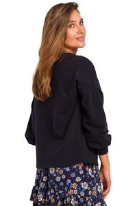 Ink Box Blouse with Puffy Sleeve