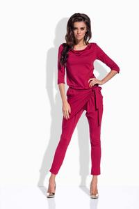 Maroon Slim Legs Ladies Jumpsuit