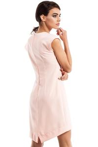 Pink Dipped Hem Sleeveless Mini Dress