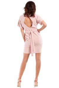 Pink  Coctail Open Back Dess