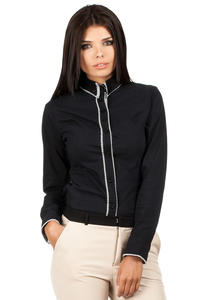 Black Dapple Collar Office Shirt