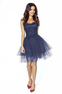Dark Blue Prom Tulle Dress