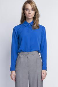 Indygo B;ue Long Sleeves Classic Ladies Shirt