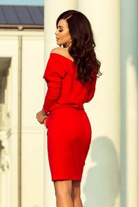 Red Dress for Everyday with a Neckline on the Back