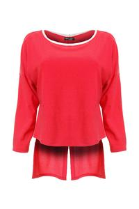 Pink Long Sleeved Top with Bow at The Back