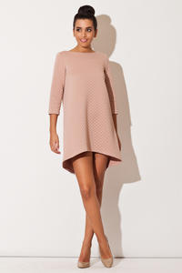 Pink Quilted Winter Fall Loose Dress