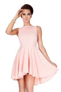 Pink Pleated Asymetrical Coctail Dress