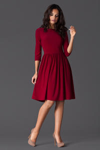 Maroon Sassy Full Swing Ruby Dress
