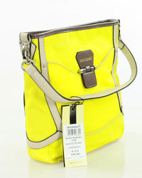 Yellow Casual Hand/Shoulder Bag with Contrasting Details