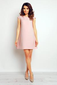 Pink Flared Mini Dress