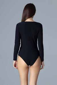 Black Wrap Front Body Suit