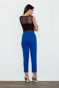 Blue Elegant Cigarette Ladies Pants