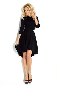 Black 3/4 Sleeves Asymetrical Coctail Dress
