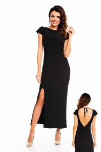 Black Open Back Maxi Long Dress