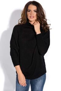 Black Bat Sleeves Tourtleneck Sweater