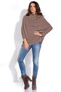 Cappuccino Bat Sleeves Tourtleneck Sweater