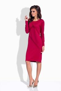 Maroon Classic Casual Dress