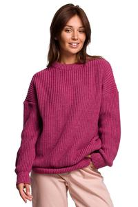 Oversize Sweater with Extended Cut - Heather