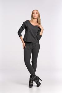 Black Fitted Ladies Jogger Pants