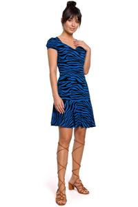 Mini Dress Leopard Print (cornflower)