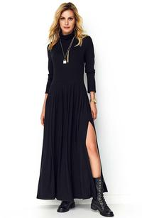 Maxi Dress Black Turtleneck