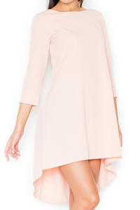 Pink Elegant Irregular Hem Salsa Dress