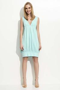 Mint Green V-Neckilne Mini Dress