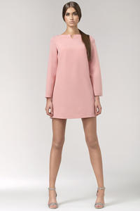 Pink High Fashion Mini Shift Dress