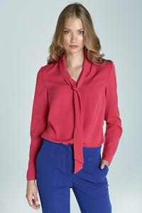 Fuchsia Office Shirt with Tie