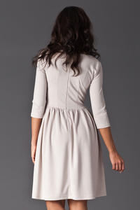 Beige Sassy Full Swing Ruby Dress