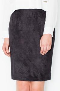 Black Pencil Suede Imitation Skirt