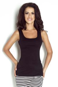 Black Fitted Round Neckline Top