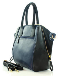 Dark Blue Quilted Eco-Leather Ladies Bag