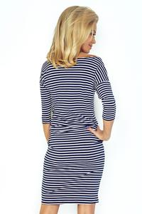 Navy Blue and White Sports Dress Drawstring Waist