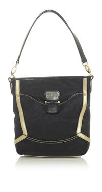 Black Casual Hand/Shoulder Bag with Contrasting Details