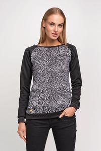 Grey&Black Leopard Pattern Simple Sweatshirt