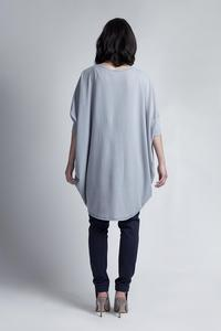 Grey Bat Sleeves Loose Casual Cardigan