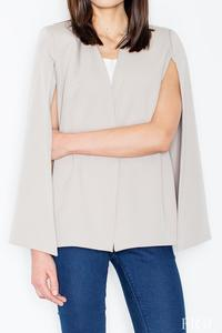 Light Grey Stylish Blazer-Poncho