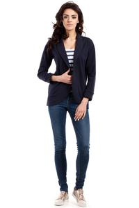 Dark Blue  Loose Lapels Blazer