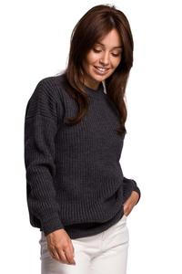 Oversize Long Cut Sweater - Graphite