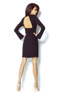 Black Open Back Coctail Dress