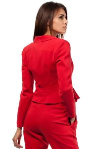 Red Short Elegant Peplum Ladies Blazer