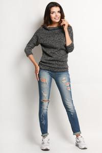 Dark Grey Stylish Sweater with Short Tourtleneck