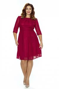 Maroon Coctail Dress with 3/4 Sleeves PLUS SIZE