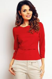 Red Elegant Short Blouse