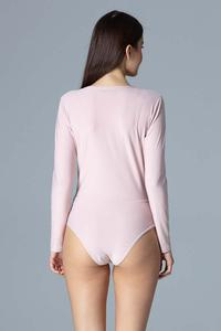 Pink Wrap Front Body Suit