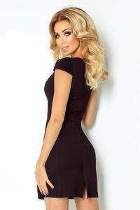 Black Bodycon Fit Heart Neckline Dress